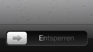 Slide-to-Unlock auf dem iPhone