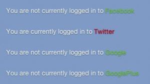 Social Networks: Trick zeigt Login bei Twitter, Facebook oder Google+ an