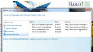 Trackingschutz im Internet Explorer 9
