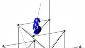 Bau- und Kletterroboter: noch recht wackelig