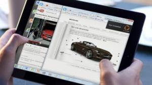 Internet Explorer 9 wird aufs iPad gestreamt.