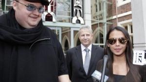 Megaupload-Gründer Kim Dotcom und seine Frau Mona am 29. Februar 2012