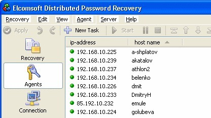 Distributed Password Recovery