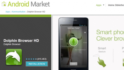 Dolphin-Browser HD für Android