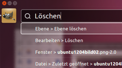 Das neue Head-up-Menü in Ubuntu 12.04 Beta 1