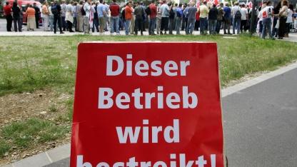 Telekom-Streik in München im Jahr 2007