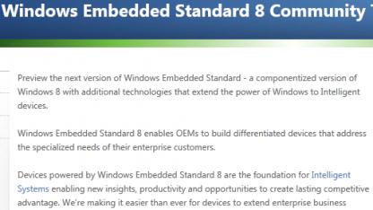 CTP von Windows Embedded Standard 8