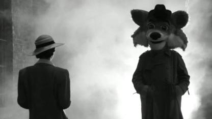 Der Firefox im Stil des Film Noir