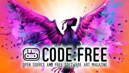 Codefree zeigt Werke, die mit Open-Source-Software entstanden ist.