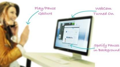 Flutter ermöglicht die iTunes-Steuerung mit der Hand.