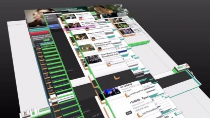 3D-Ansicht des Page Inspector in Firefox 11