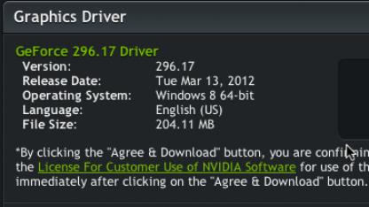 Das erste Geforce-Treiberupdate für Windows 8 CP