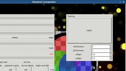 Wayland mit einfachen GTK-Anwendungen