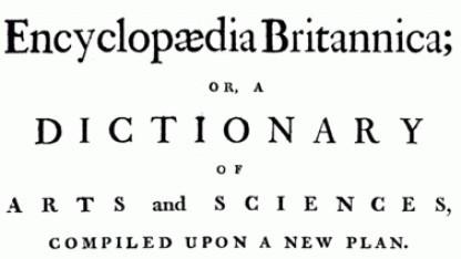 Künftig kein Papier mehr: Titelseite der ersten Ausgabe der Britannica
