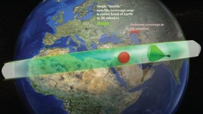 Darpa-Programm See Me: Kleinsatelliten starten vom Flugzeug aus.