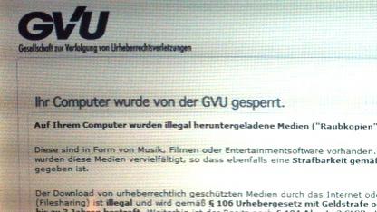 Betrügerische Software missbraucht den Namen der GVU.