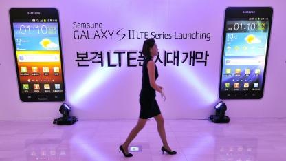 Model vor Samsung 4G-Smartphones im September 2011