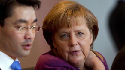 Angela Merkel  und Philipp Rösler