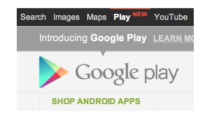 Prominenter Platz für Google Play