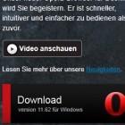 Browser: Opera 11.62 korrigiert Fehler und Sicherheitslücken