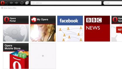 Opera Mini 7 unterstützt beliebig viele Schnellwahleinträge.