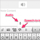 Evernote: Diktat als Textnotiz im Android-Handy
