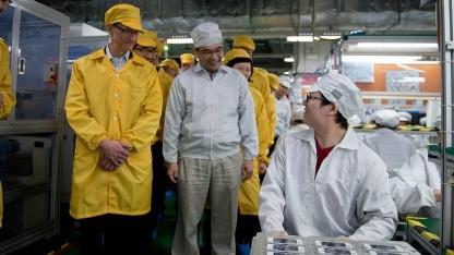 Apple-Chef in Foxconn-Fabrik