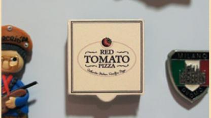 Der Pizza-Notrufknopf von The Red Tomato Pizza aus Dubai