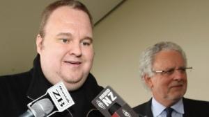 Kim Schmitz nach seiner Freilassung auf Kaution