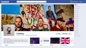 Facebooks neue Seiten am Beispiel der Band Coldplay