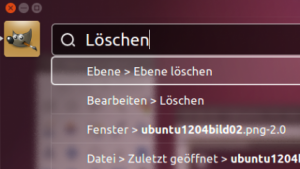 Das neue Head-up-Menü in Ubuntu 12.04 Beta 1