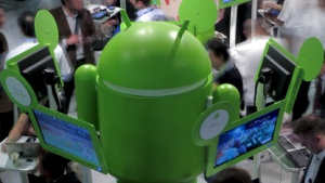 Googles Android-Stand auf dem Mobile World Congress 2012