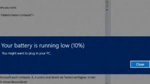 Akkuwarnung unter Windows 8
