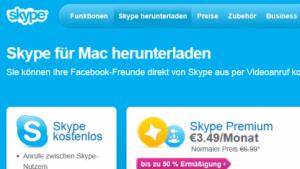 Neue Version von Skype für Mac
