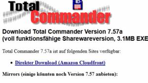 Total Commander 7.57a bringt Fehlerkorrekturen.