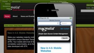 Magnolia CMS 4.5 ist für die Veröffentlichung von Inhalten auf mobilen Geräten optimiert worden.