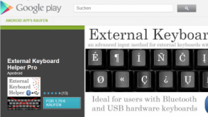 External Keyboard Helper Pro im Play Store