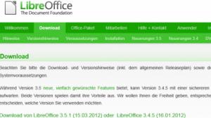 Libreoffice 3.5.1 ist da.