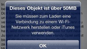 Apps dürfen jetzt für Mobilfunkverbindungen 50 MByte groß sein.