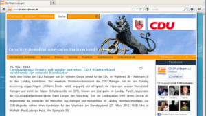 Screenshot der CDU-Internetseite unter piraten-ratigngen.de