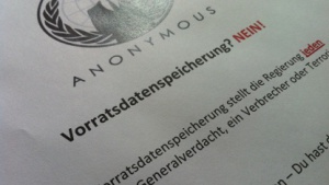 Einer der Anonymous-Flyer der Operation Paperstorm VDS