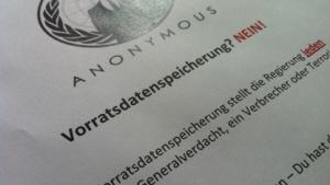 Einer der Anonymous-Flyer der Operation Paperstorm VDS