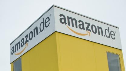 Blick auf das Amazon.de-Logistikzentrum in Leipzig