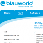 Blauworld: Handy-Datenflatrate mit 750-MByte-Drosselung für 10 Euro