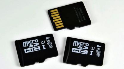 samsung microsd karte mit uhs 1 schafft 80 mbyte s. Black Bedroom Furniture Sets. Home Design Ideas