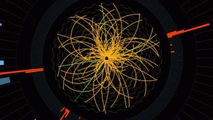Kandidat für Higgs-Ereignis im Experiment CMS: höhere Chancen durch mehr Energie