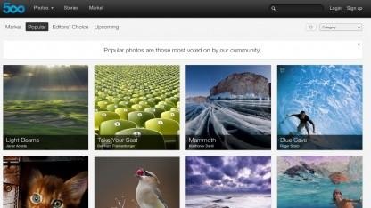Der Onlinebilderdienst 500px will Flickr Konkurrenz machen.