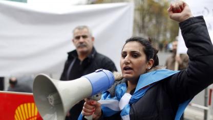Syrische Demonstratin im April 2012 in Berlin