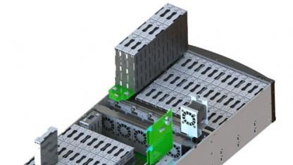 Festplatten werden in Modulen ausgetauscht.