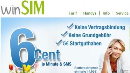 Winsim-Tarif ist ab sofort verfügbar.